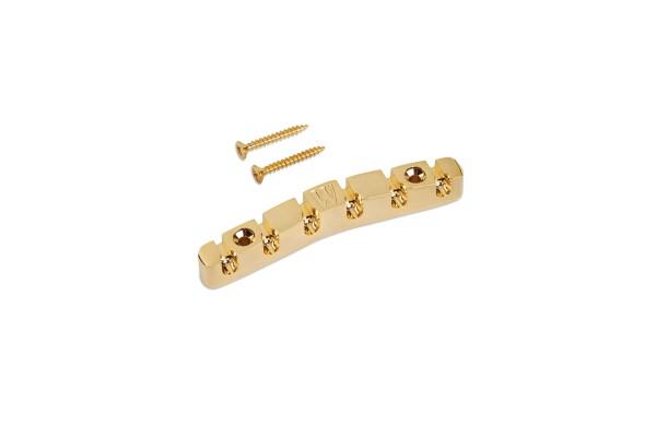 Warwick Tailpiece, 6-string, Broad Neck / Gold