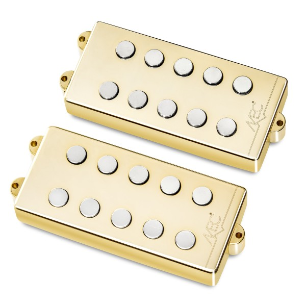MEC Passive MM-Style Bass Pickup Set, Metal Cover, 5-String