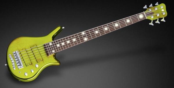 Warwick Custom Shop Thumb Bass, 6-String - Green Chrome - 16-3324