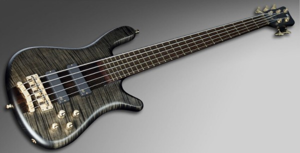 Warwick Masterbuilt Streamer Stage I, 5-String, Broadneck - Nirvana Black Transparent Satin