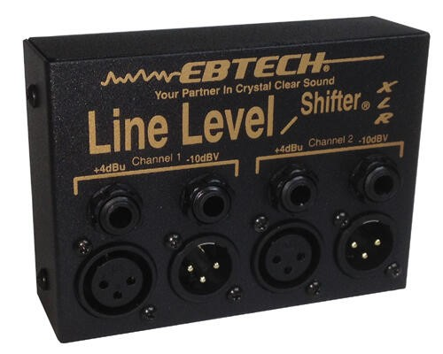 EBTECH Line Level Shifter - 2 Channel, XLR/TRS