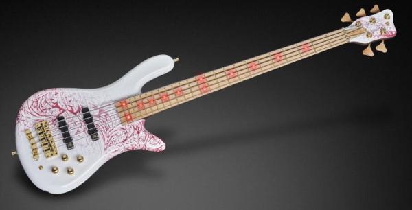 Warwick Custom Shop Streamer LX, 5-String - Storm Galaxy (White on Red) - 17-3733