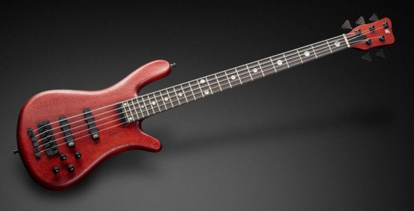Warwick Custom Shop Streamer Stage II, 5-String - Burgundy Red Transparent Satin - 16-3051