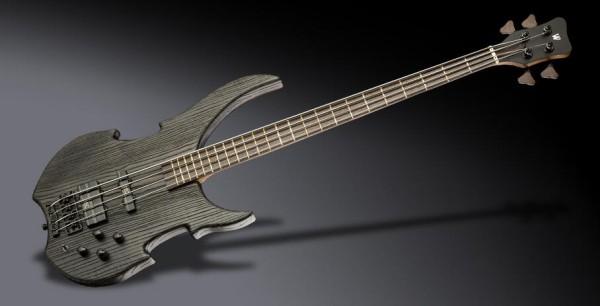 Warwick Custom Shop Vampyre, 4-String - Sandblasted Nirvana Black Transparent Satin - 19-4111