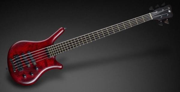 Warwick Masterbuilt Thumb NT, 5-String - Burgundy Red Transparent Satin