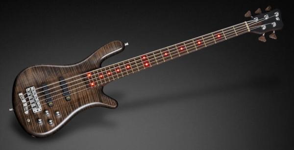 Warwick Custom Shop Streamer LX, 5-String - Nirvana Black Transparent Satin - 17-3608
