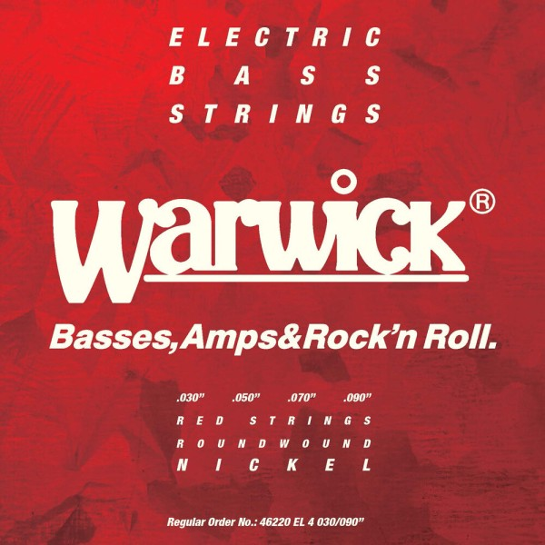 Warwick Red Label Bass String Sets, Nickel-Plated Steel - 4-String