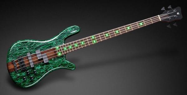 Warwick Custom Shop Streamer Stage I, 4-String - Green Raffir with Natrual Transparent High Polish - 18-3895