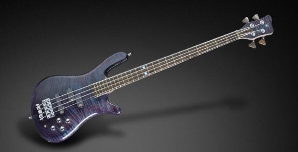 Warwick Custom Shop Streamer LX, 4-String - Midnight Blue Transparent High Polish - 16-3220
