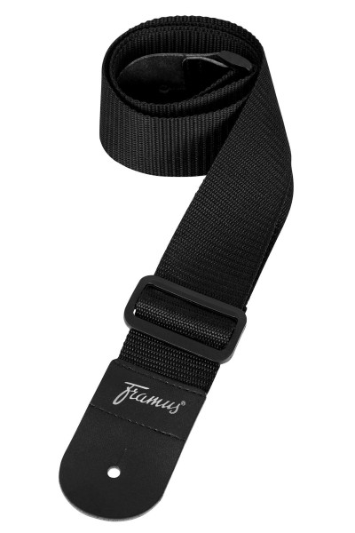 Framus Guitar Strap - Nylon, black, 50 mm wide