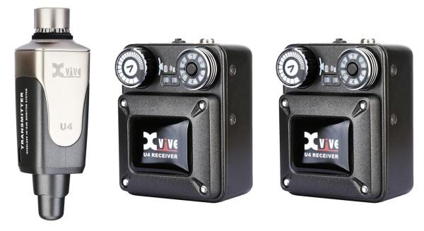 XVive U4 In-Ear Monitor Wireless System - Bundle, 1x Transmitter + 2x Receiver