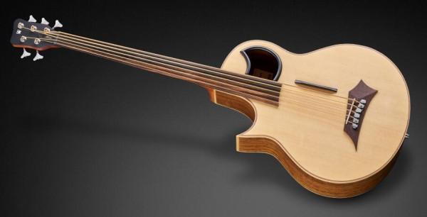Warwick Alien, Lefthand, 5-String, Fretless - Natural Transparent Satin