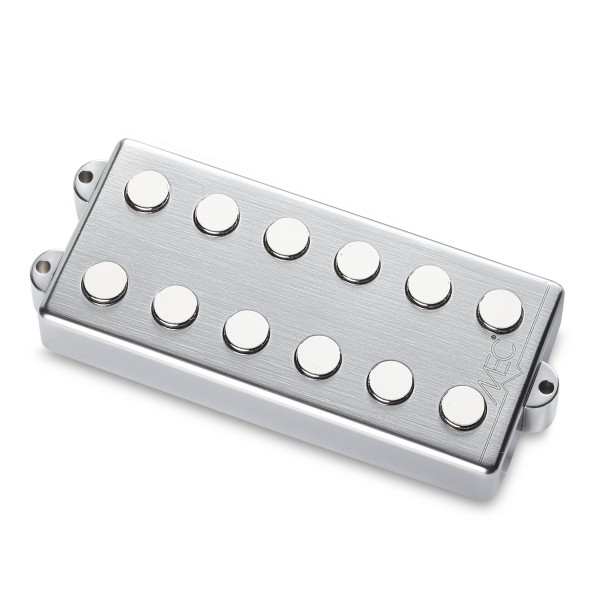 MEC Passive MM-Style Bass Pickups, Metal Cover, 6-String - Neck