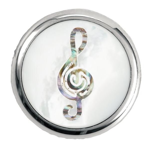 Framus & Warwick - Potentiometer Dome Knobs, Treble Clef Inlay