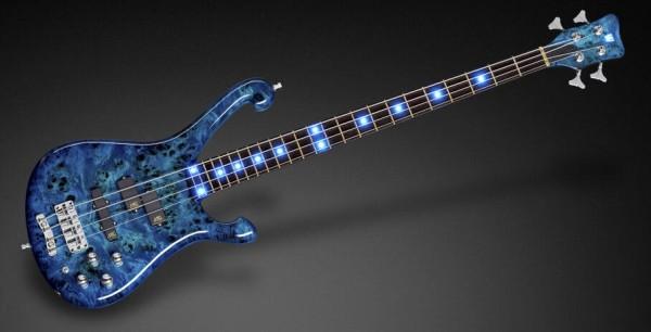 Warwick Custom Shop Stuart Zender Signature, 4-String - Bleached Lagoon Blue Transparent High Polish - 17-3512