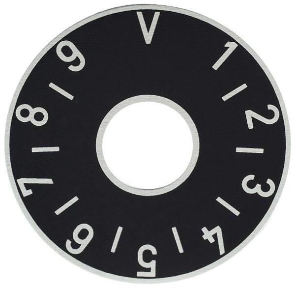 Framus Vintage - Volume Plate / Black