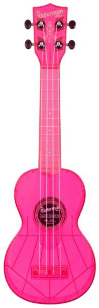 KALA Waterman KA-SWF-PK - Fluorescent Watermelon Pink Soprano Ukulele, with Tote Bag