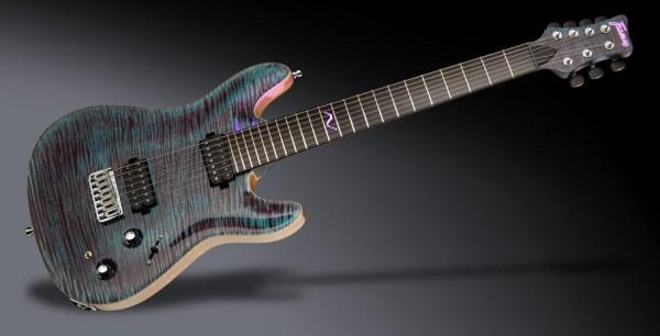 Framus Custom Shop Diablo Supreme, 7-String - Midnight Blue Transparent High Polish - 20-4144