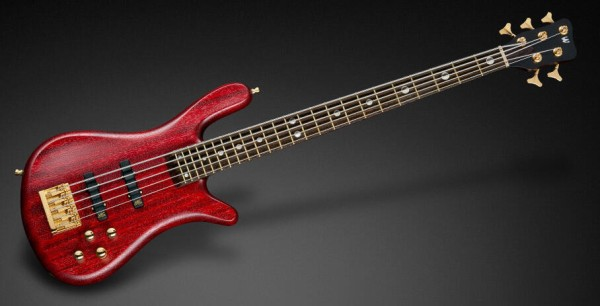 Warwick Custom Shop Streamer Stage II, 5-String - Burgundy Red Transparent Satin - 18-3886