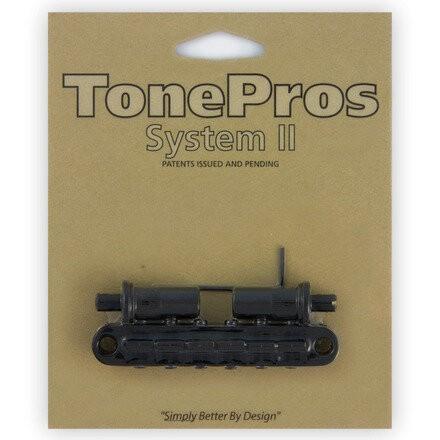 TonePros TPFA - Metric Aluminum Tune-O-Matic Bridge with Bell Brass Saddles (Large Posts / Notched Saddles)