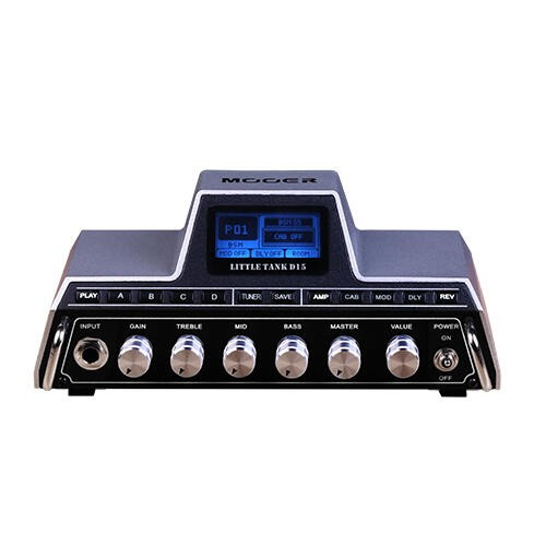 Mooer Little Tank D15 - Mini Guitar Modeling Amplifier Head