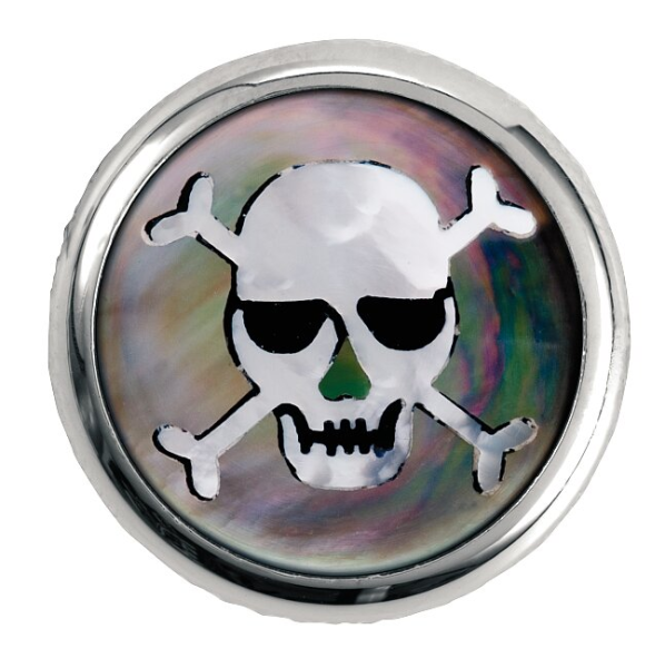 Framus & Warwick - Stacked Potentiometer Dome Knobs, Skull Inlay