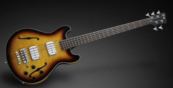 Warwick Teambuilt Pro Series Star Bass, 5-String - Vintage Sunburst Transparent High Polish