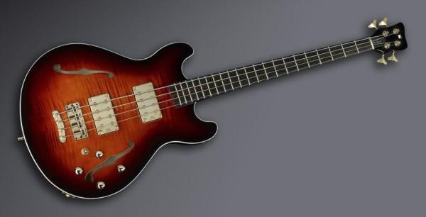 Warwick Custom Shop Star Bass II, 4-String - Almond Sunburst Transparent High - 13-2503