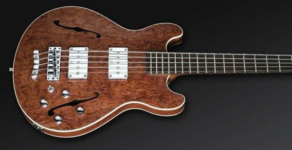 Warwick Masterbuilt Star Bass II Bubinga, 5-String - Natural Transprarent Satin, Chrome Hardware