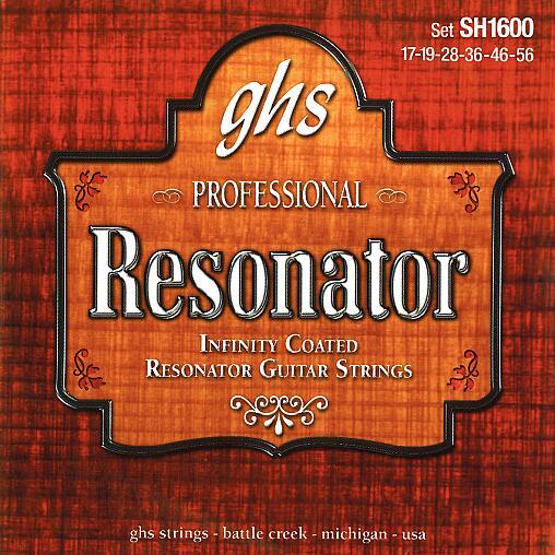 GHS Professional - Resonator String Set, Infinity Bronze, Coated, .017-.056