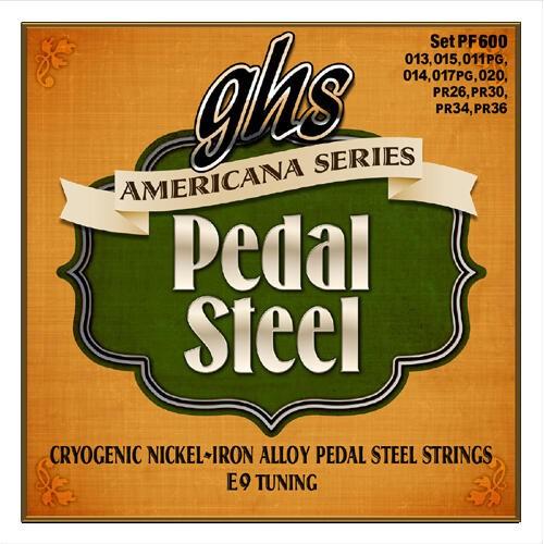 GHS Americana Series - PF600 - Pedal Steel Guitar String Set, 10-Strings, E9 Tuning, .012-.036