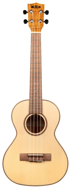 KALA KA-FMTG - Solid Spruce Flame Maple Tenor Ukulele, with Case (UC-T)