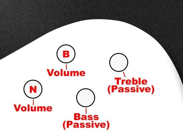 MEC 60093 C - Passive Electronics For Passive Pickups (Vol / Vol / B (Passive) / T (Passive)) - Warwick Streamer CV