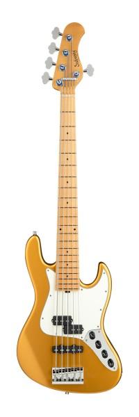 Sadowsky Custom Shop 21-Fret Vintage P/J Bass, 5-String - Solid Firemist Gold Satin - 21-04235