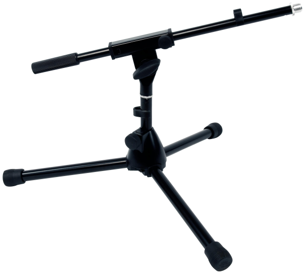 RockStand Microphone Stand, 30 cm, Solid Tri-Pod with Boom and Cable Clips, Black