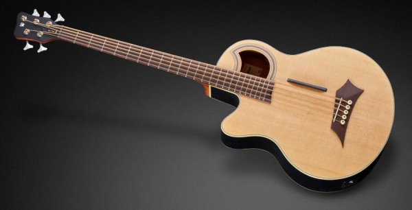Warwick RockBass Alien Standard, Lefthand, 5-String - Natural Transparent Satin