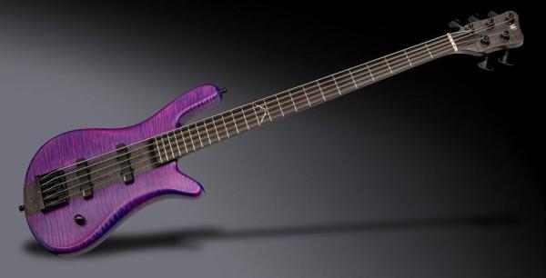 Warwick Custom Shop Robert Trujillo Signature, 4-String - Purple/Nirvana Black Transparent Satin Polish - 20-4183