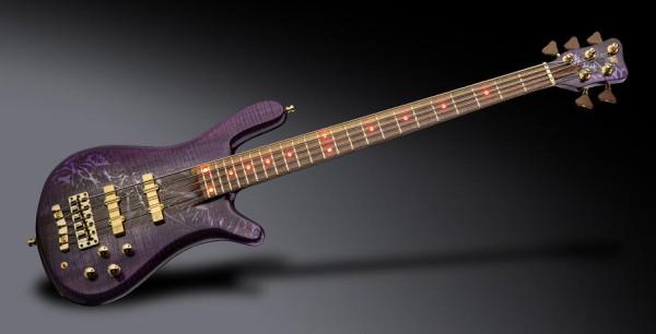 Warwick Custom Shop Streamer Stage I, 5-string - Storm Galaxy Dark Violette High Polish - 18-3863