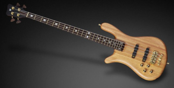 Warwick Custom Shop Streamer Stage II, Lefthand, 4-String - Natural Oil Finish - 17-3612