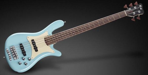 Warwick Masterbuilt Streamer CV, 5-String - Solid Daphne Blue High Polish