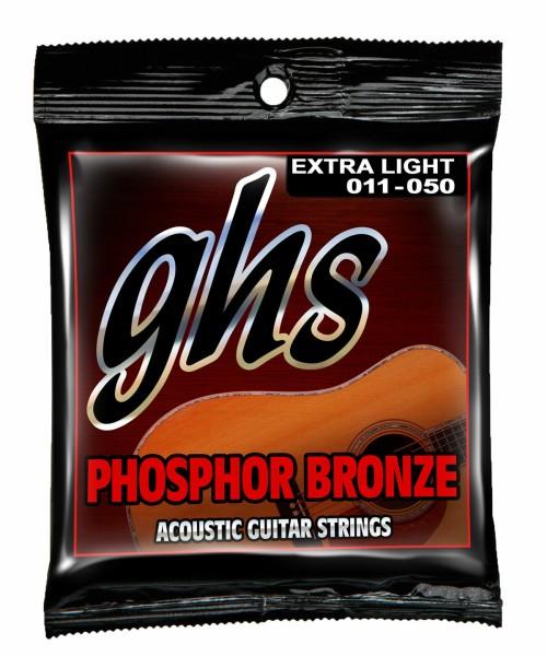 GHS Phosphor Bronze Acoustic Guitar String Sets