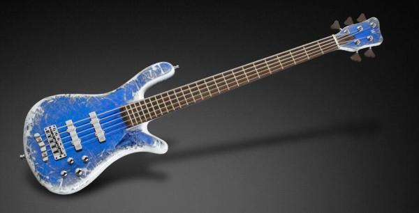 Warwick Custom Shop Streamer Stage I, 5-String - Blue Chrome Threadburst High Polish - 16-3022