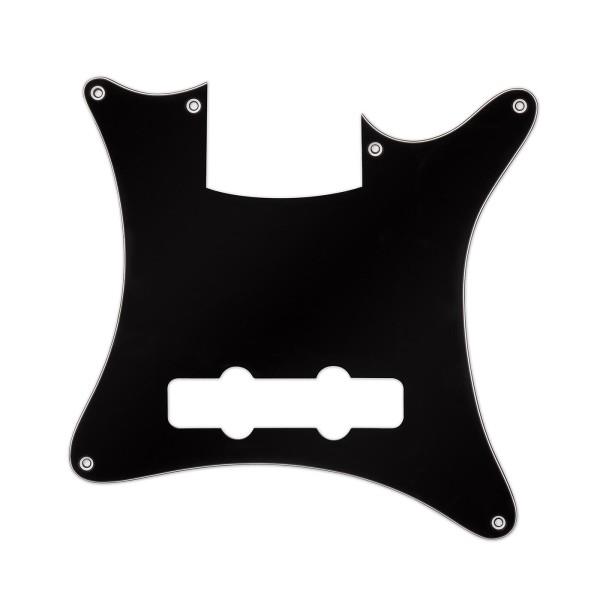 Warwick Parts - Pickguard for Warwick Streamer CV, 4-String- Black/Creme/Black