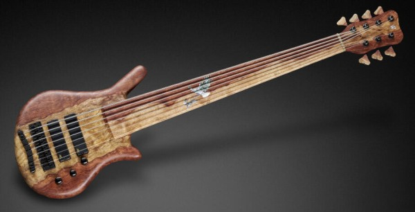 Warwick Custom Shop Thumb NT, 7-String, Fretless - Natural Oil Finish - 18-3802