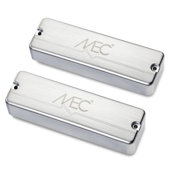 MEC Active Soapbar Humbucker Bass Pickup Set, Metal Cover, 5-String