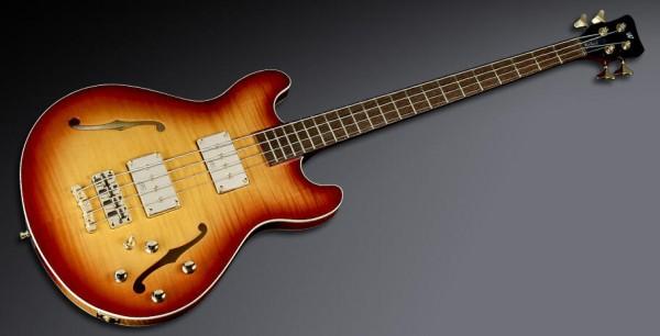 Warwick Masterbuilt Star Bass II Flamed Maple, 4-String - Honey Sunburst Transparent High Polish