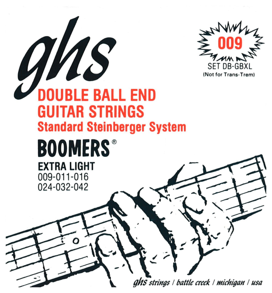 GHS Boomers Double Ball End Electric Guitar String Sets
