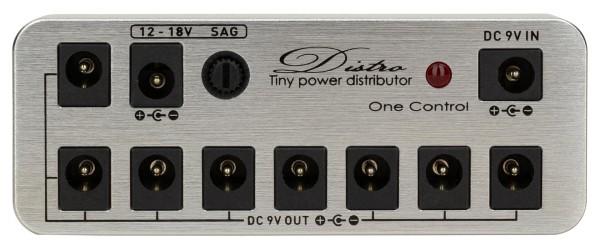 One Control Micro Distro - Tiny Power Distributor, Shiny Silver