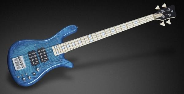 Warwick Custom Shop Streamer $$, 4-String - Lagoon Blue Burst High Polish - 16-3255
