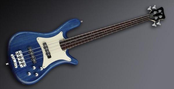 Warwick Masterbuilt Streamer CV, 4-String - Ocean Blue Transparent Satin